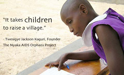 It takes children to raise a village.